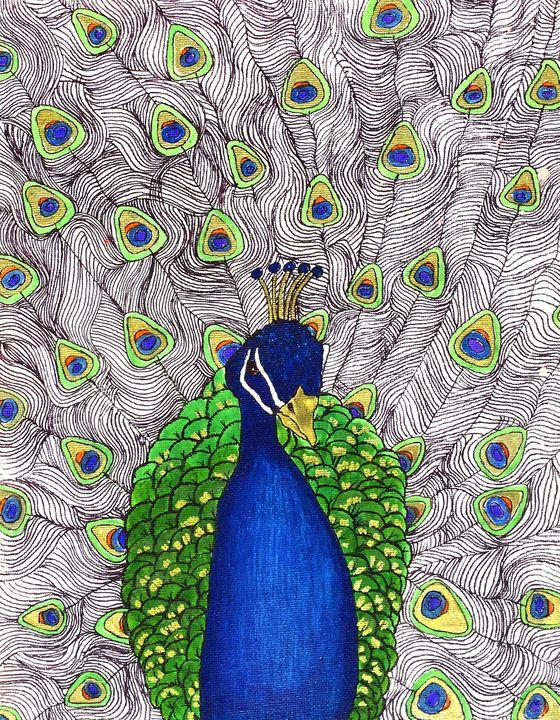 Pemberley, The Proud Peacock - Art by Pamela