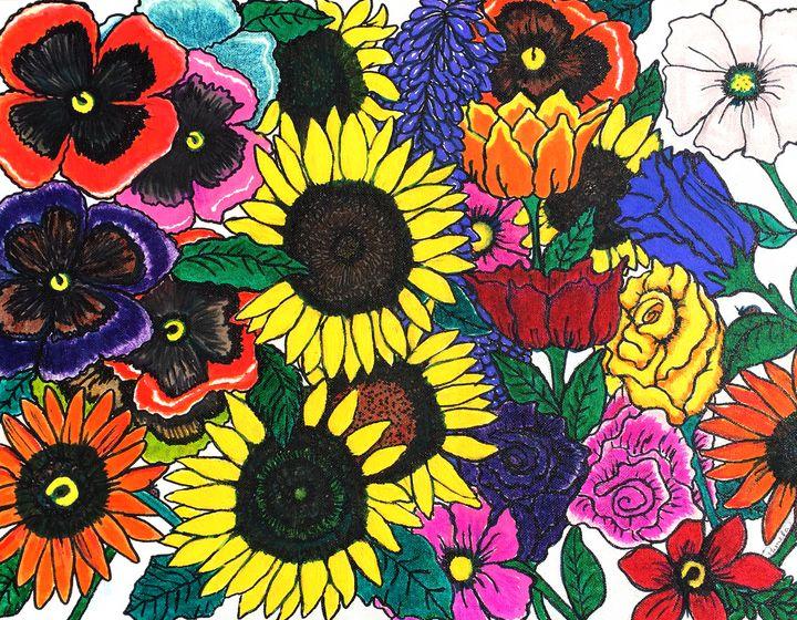 Garden Array - Art by Pamela