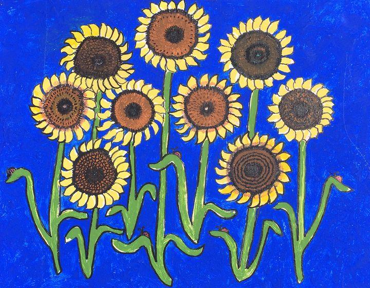 Dancing Sunflowers - Art by Pamela