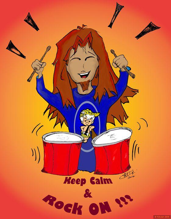 Keep Calm & Rock On (orange) - Illusions Ink Studio
