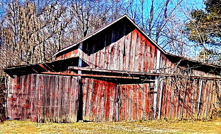 Sunlight on Old Barn - Wayne Bien
