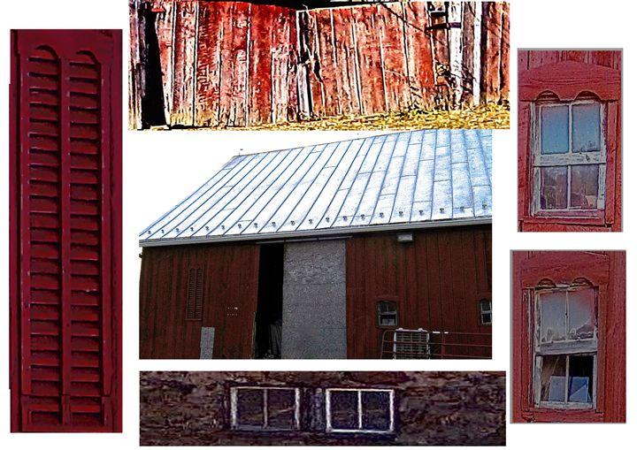 Red Barn Collage - Wayne Bien