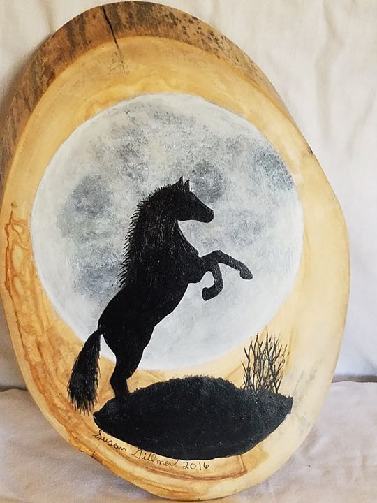Stallion in moonlight - Susan Gillmer