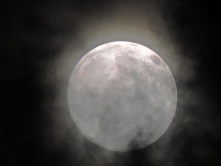 Dust Covered Moon - Mariah W. Photography
