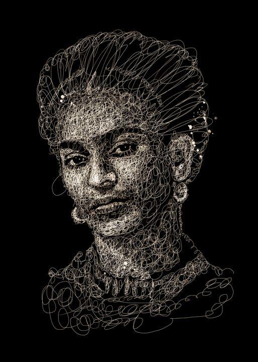 frida kahlo scribbles - izmo scribbles