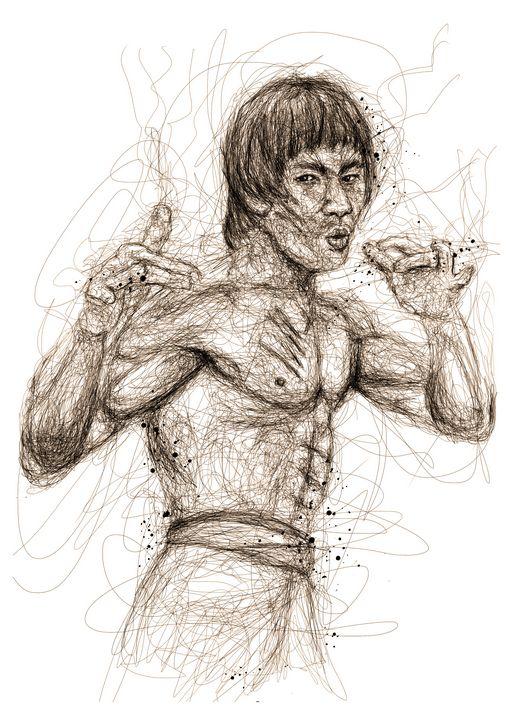 bruce lee scribbles - izmo scribbles