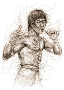 bruce lee scribbles
