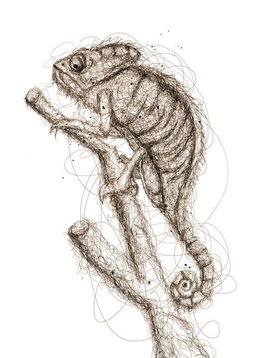 chameleon art - izmo scribbles