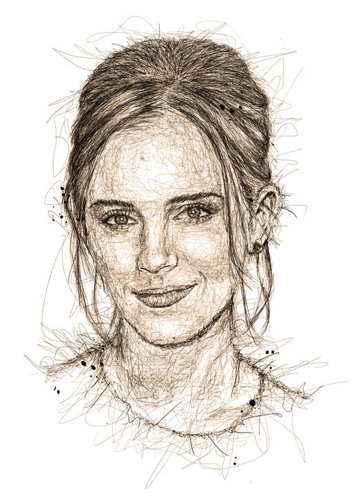 emma watson art - izmo scribbles