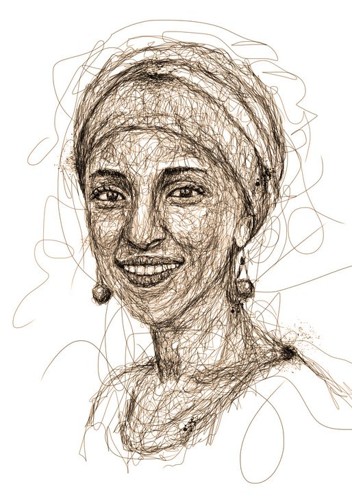 ilhan omar scribbles - izmo scribbles