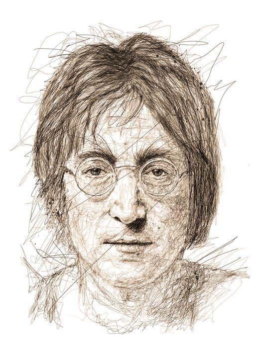john lennon scribbles - izmo scribbles