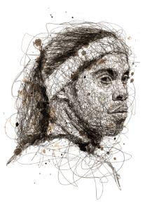 football legend scribbles