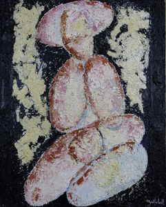 naked woman sitted