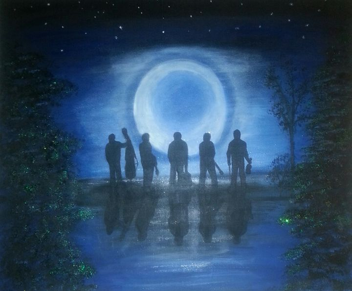 Kentucky blue moon - Artist Jamie Mossier