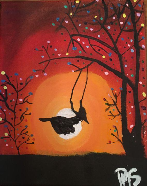 Childhood on a swing - Paulinas paintings
