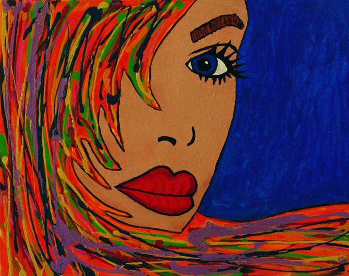 Orange Ophelia - Amber McNeel Art