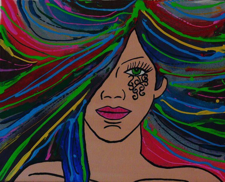 Scrollwork Stare - Amber McNeel Art