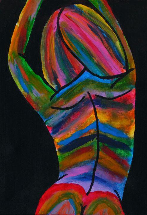 Back Stretch - Amber McNeel Art