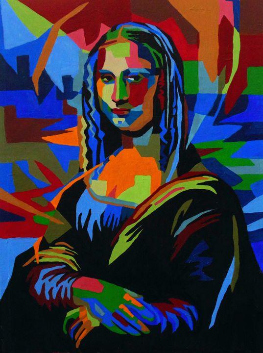 Mona Lisa Wpap in Acrylic - Amber McNeel Art