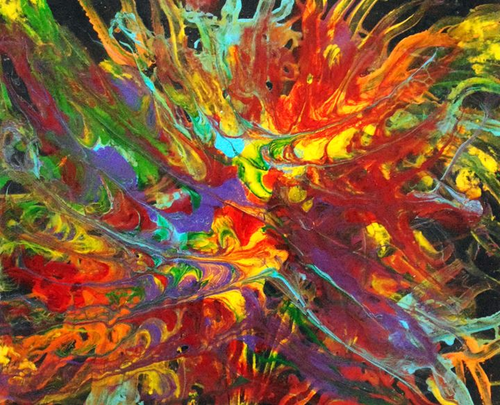 Chaotic Explosion - Amber McNeel Art