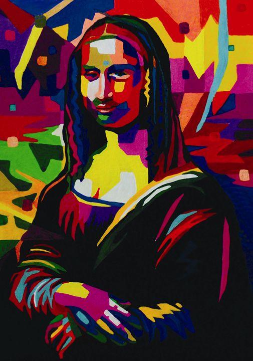 Mona Lisa Wpap Artwork (Bright) - Amber McNeel Art