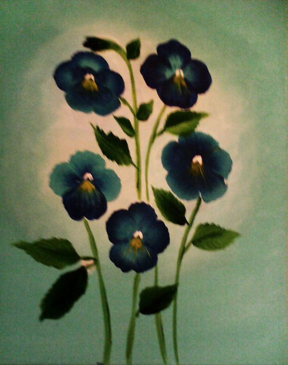 Blue Pansy Family - Nimmi's Gallery