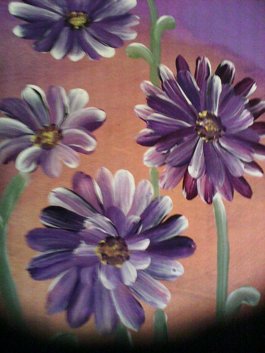 Purple Daisies - Nimmi's Gallery
