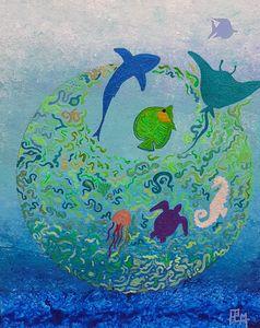 flight of fish ,envol de poissons - P.L.M