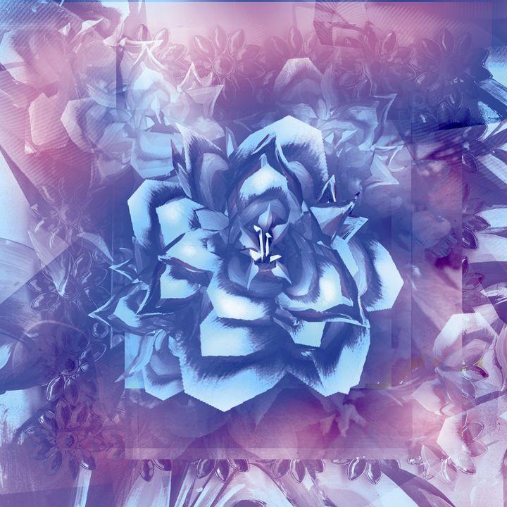 Blue Delphinium - William Inman Printshop
