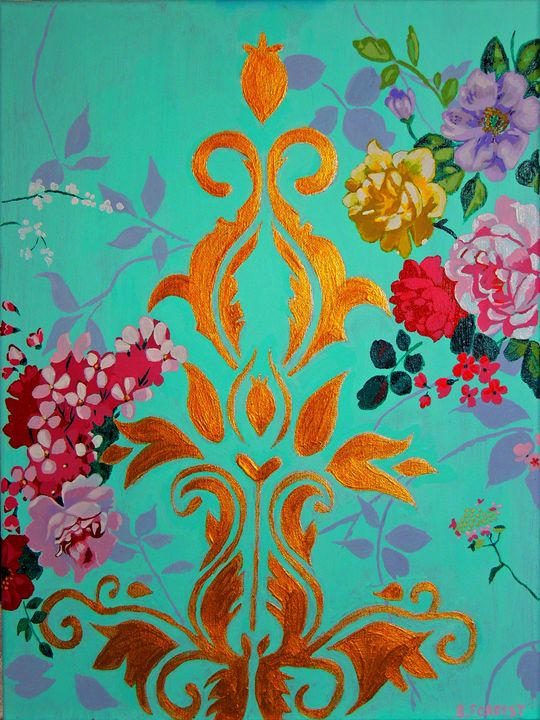 """Acrylic Painting - """"Vintage Luxury"""" - Brittany Forrest"""