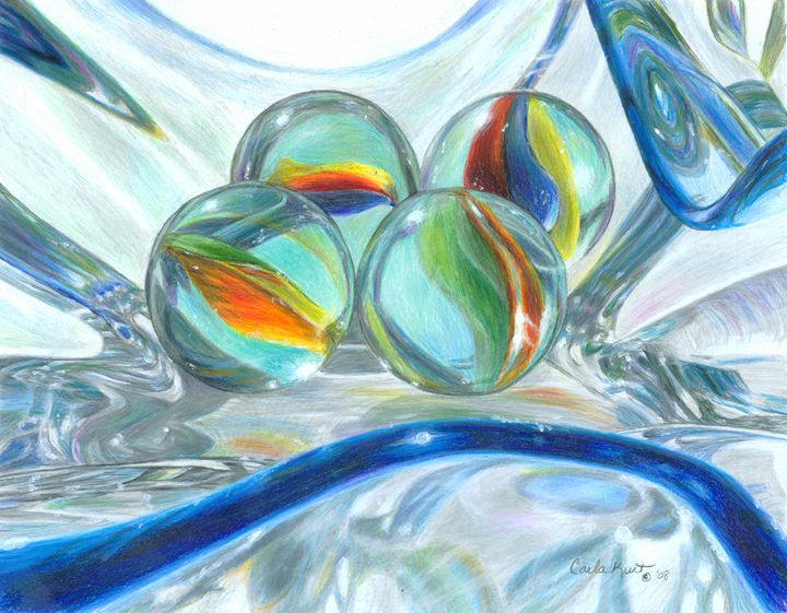Bowl of Marbles - Carla Kurt Art
