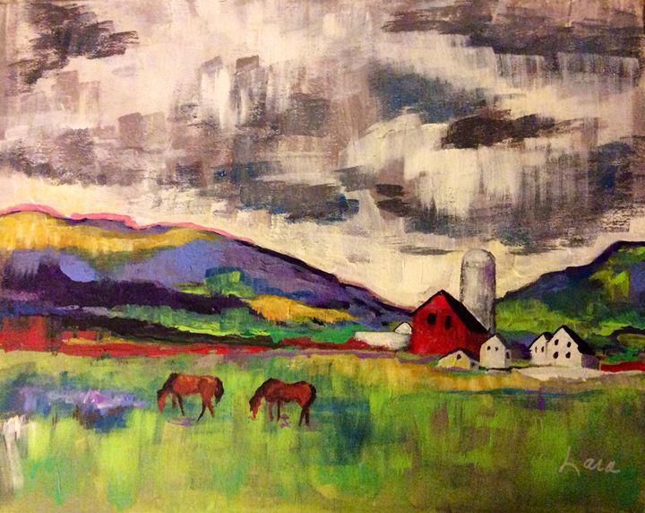 Two Horses - Lara's Art
