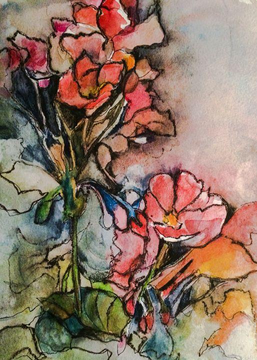 Geraniums - Lara's Art