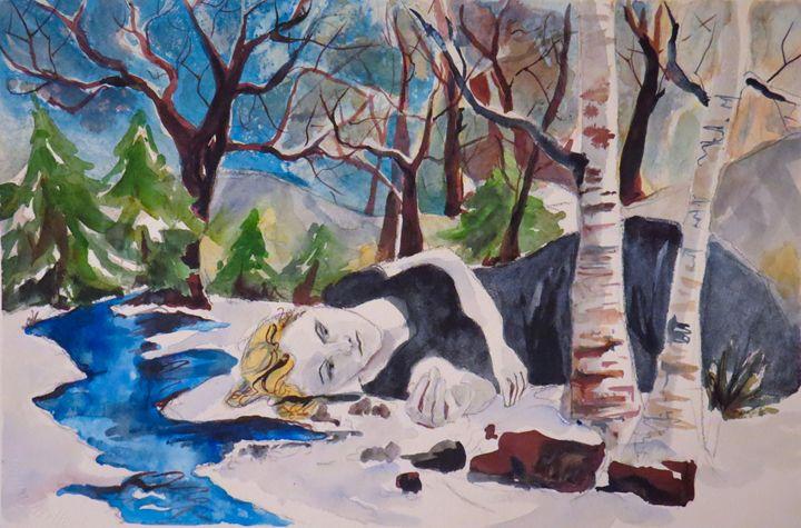 Jackie in Winter - Lara's Art