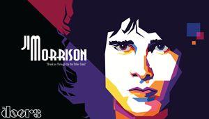 Jim Morrison of The Doors (Pop Art)