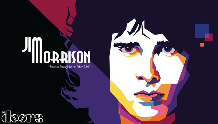 Jim Morrison Of The Doors Pop Art