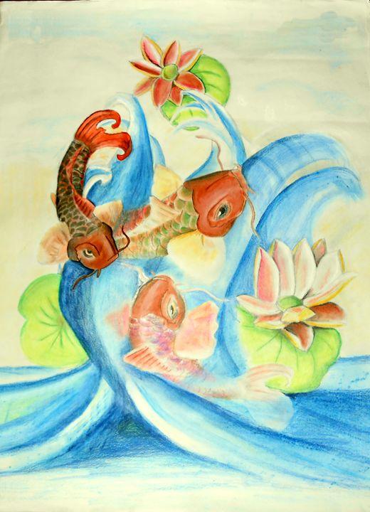 Koi  fish - Searles's  Art