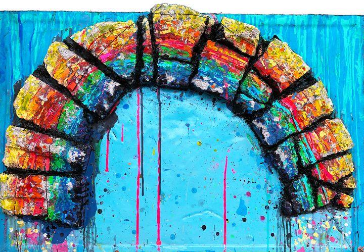 Concrete Rainbow - Sledgehammer Painting