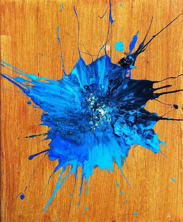 Supernova in Blue - Sledgehammer Painting
