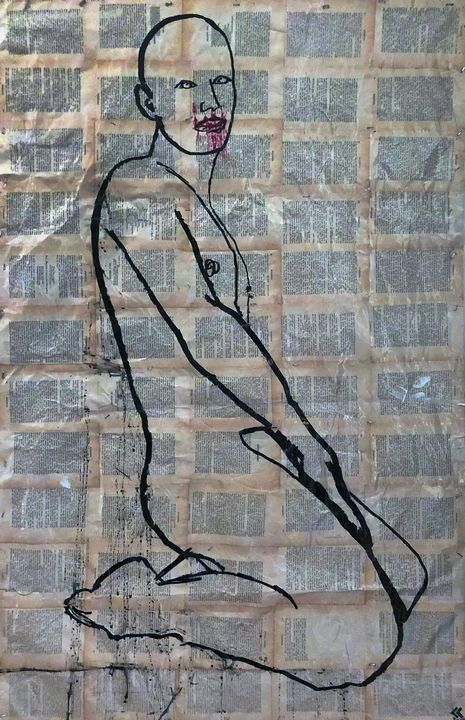 Man Posing #13 - Sledgehammer Painting