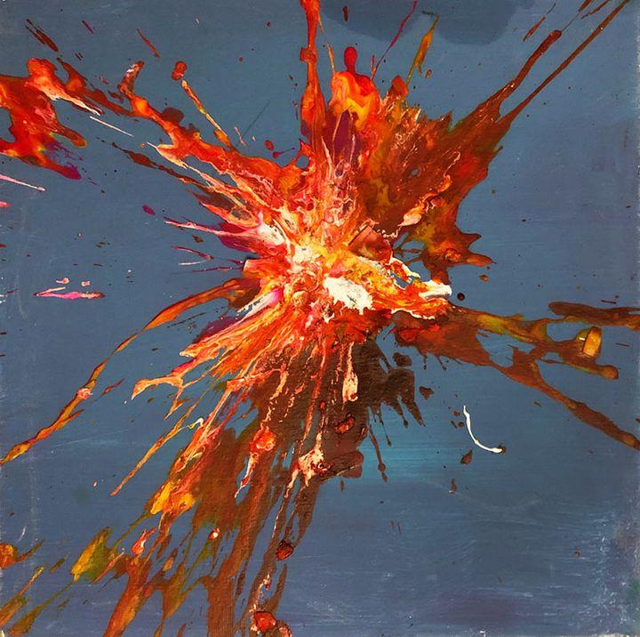 Supernova in Red   Chris Crewe - Sledgehammer Painting