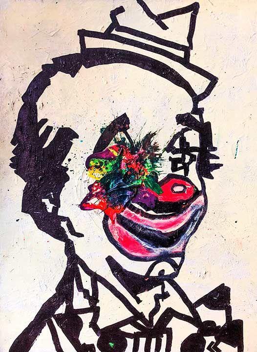 Sledgehammer Face Clown #15 - Sledgehammer Painting