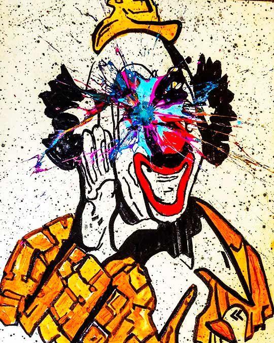 Sledgehammer Face Clown #26 - Sledgehammer Painting