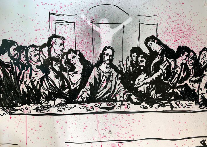 Last Supper - Sledgehammer Painting