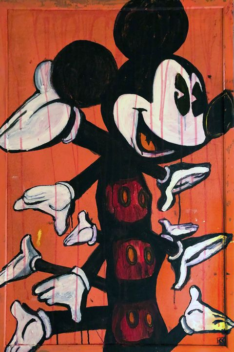 Mickey Mouse Centipede - Sledgehammer Painting