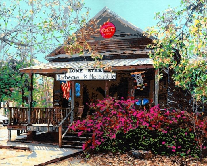 Lone Star BBQ & Mercantile in Santee - 'Artists Aflame' Family Gallery