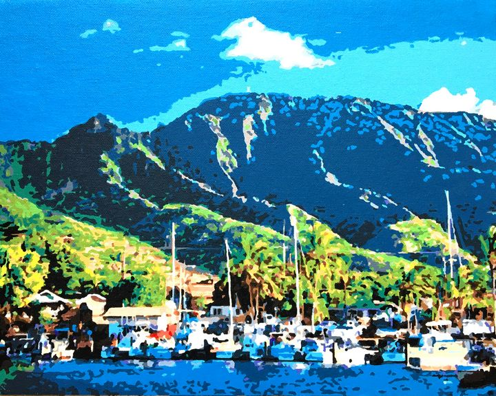 Haleiva Boat Harbor - 'Artists Aflame' Family Gallery