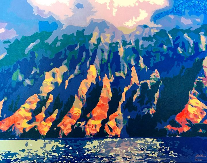 Majestic Napali Coast - 'Artists Aflame' Family Gallery