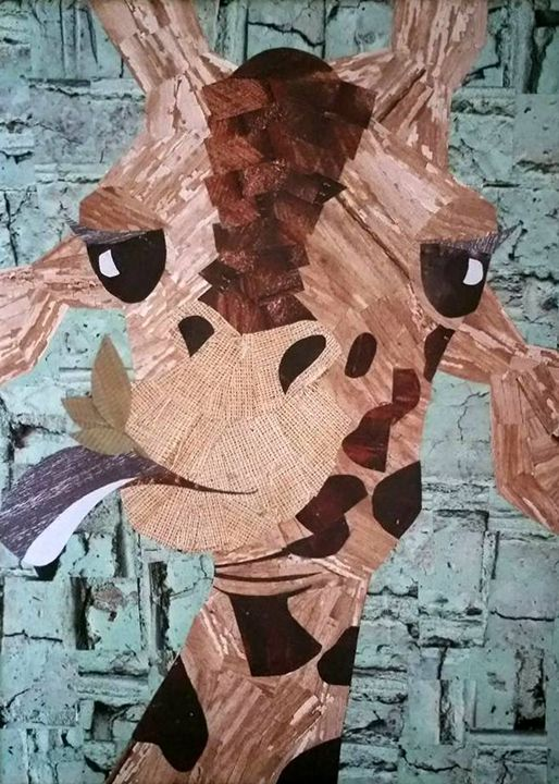 Giraffe - Conventionally Quirky by Alison Moore