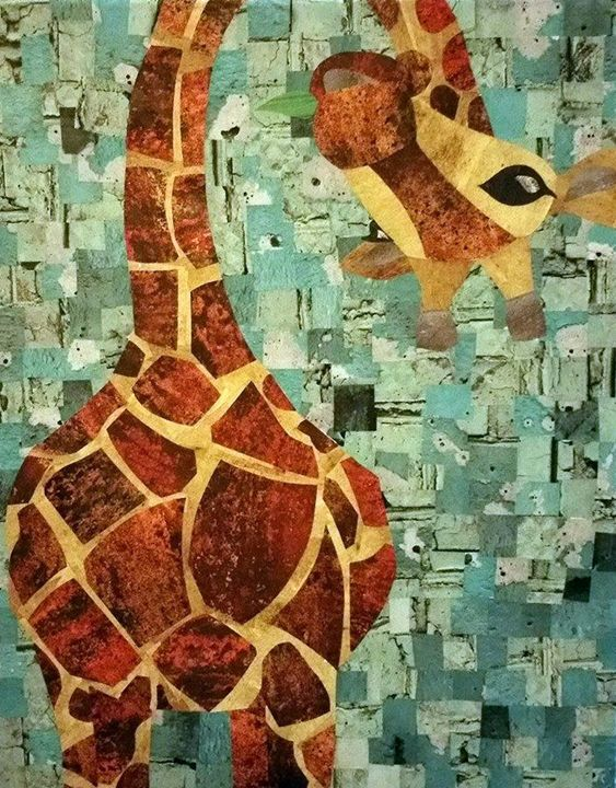 Quirky Giraffe - Conventionally Quirky by Alison Moore